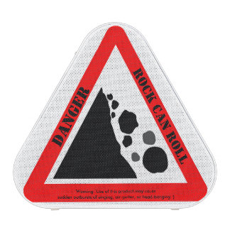 Funny Rock Can Roll (Rock-n-Roll) Warning Sign Bluetooth Speaker