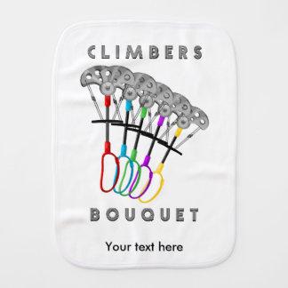 Funny Rock Climbers Bouquet Baby Burp Cloth