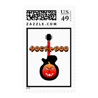 Funny rock halloween stamp
