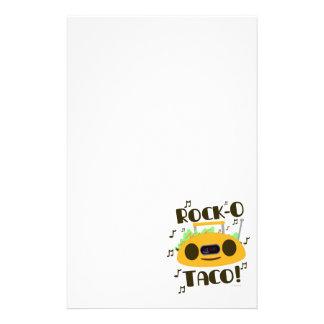 Funny Rock-O Taco Time Stationery