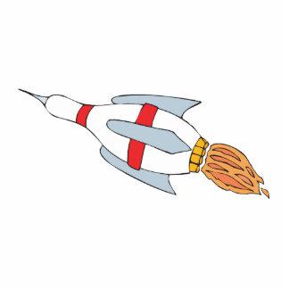 funny rocket bowling pin design cartoon standing photo sculpture