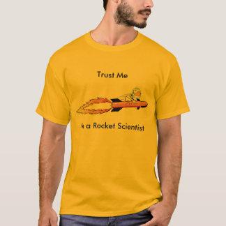 Funny Rocket Scientist Cartoon Shirt