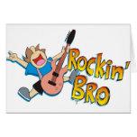 Funny Rockin' Brother Playing Guitar Card