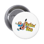 Funny Rockin' Brother Playing Guitar Pins