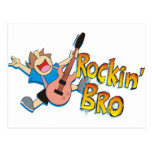 Funny Rockin' Brother Playing Guitar Postcards