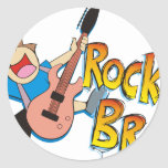 Funny Rockin' Brother Playing Guitar Sticker