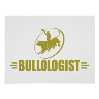 Funny Rodeo Bull Rider Poster