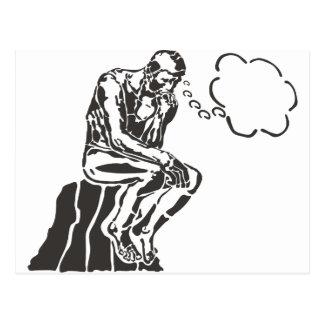 Funny Rodin Thinker Postcard