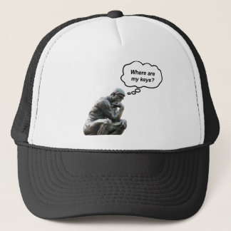 Funny Rodin's Thinker Statue - Where Are My Keys? Trucker Hat