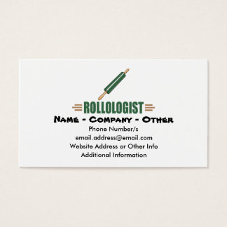 Funny Rolling Pin Business Card