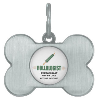 Funny Rolling Pin Pet Tag