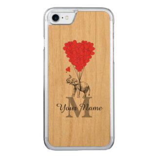 Funny romantic elephant carved iPhone 7 case