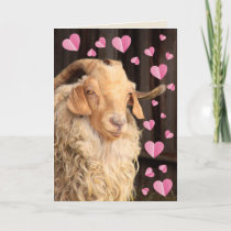 Funny Romantic Goat Valentine's Day Holiday Card
