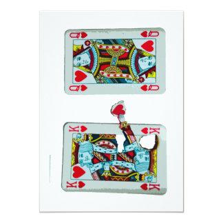 "Funny Romantic King of Hearts Wedding Invitation 5"" X 7"" Invitation Card"