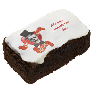 Funny romantic valentines day chocolate brownie