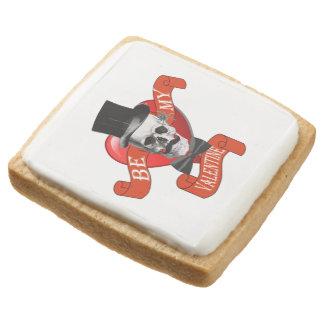 Funny romantic valentines day square shortbread cookie