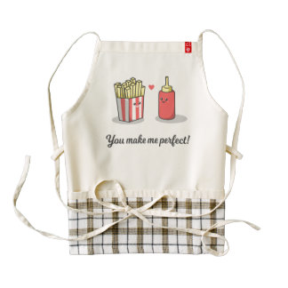 Funny Romantic You Make Me Perfect | HEART Apron