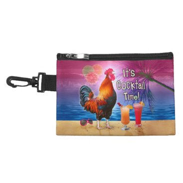 Beach Themed Funny Rooster Chicken Drinking Tropical Beach Sea Accessory Bag