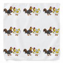 Funny Rooster Groom and Hen Bride Wedding Bandana