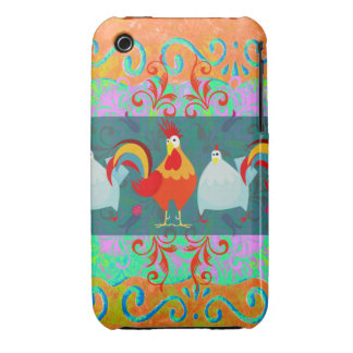 Funny Rooster Hen Funky Chicken Farm Animal Gifts iPhone 3 Case