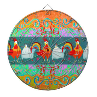 Funny Rooster Hen Funky Chicken Farm Animal Gifts Dartboard