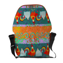 Funny Rooster Hen Funky Chicken Farm Animal Gifts Messenger Bag