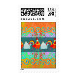 Funny Rooster Hen Funky Chicken Farm Animal Gifts Postage Stamps