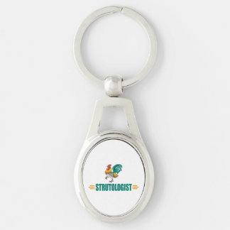 Funny Rooster Keychain