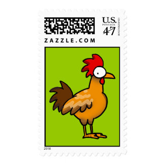 Funny rooster postage