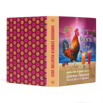 Funny Rooster Tropical Beach Sea Vacation Memories Mini Binder
