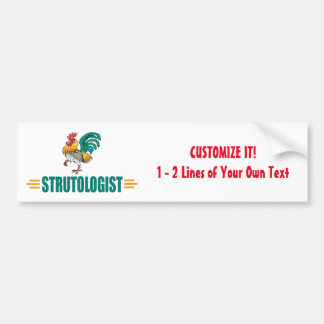 Funny Roosters Car Bumper Sticker