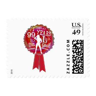 Funny Rosette Happy Birthday Postage Stamp