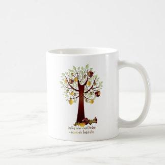 Funny Rotten Apple Family Tree Classic White Coffee Mug