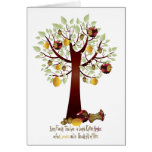 Funny Rotten Apple Family Tree Greeting Card