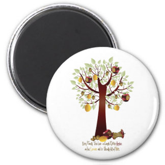 Funny Rotten Apple Family Tree Magnet
