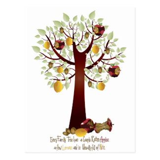 Funny Rotten Apple Family Tree Post Card