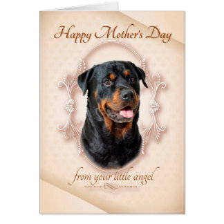 Funny Rottie Mother's Day Card