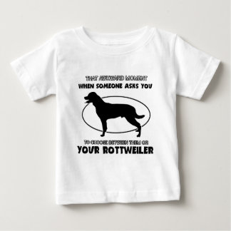 Funny rottweiler designs baby T-Shirt