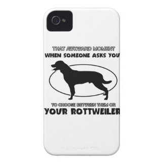 Funny rottweiler designs iPhone 4 Case-Mate cases