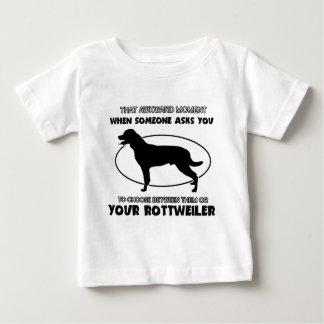Funny rottweiler designs infant t-shirt