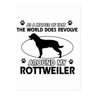 Funny ROTTWEILER  designs Postcard