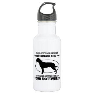 Funny rottweiler designs water bottle