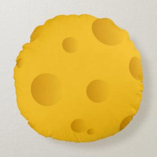 Funny round yellow cheese throw pillow home decor