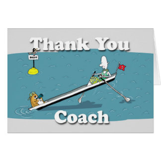 funny rowing card thank you coach