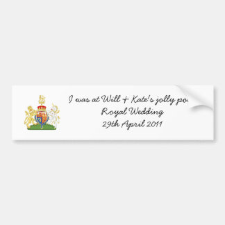 Funny Royal Wedding souvenir car sticker Car Bumper Sticker