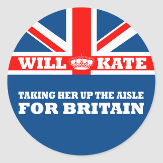 Funny Royal Wedding Classic Round Sticker