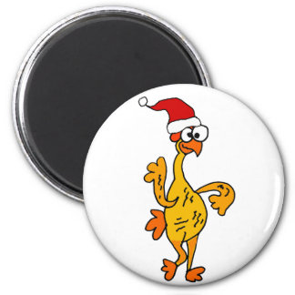 Funny Rubber Chicken Christmas Cartoon Magnet