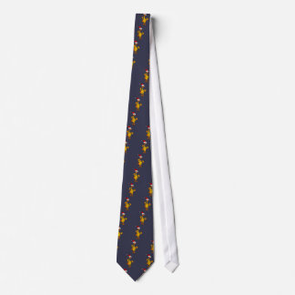Funny Rubber Chicken Christmas Cartoon Tie