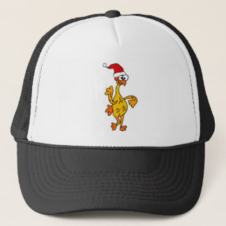 Funny Rubber Chicken Christmas Cartoon Trucker Hat