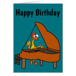 Cute & Funny Rubber Chicken Playing Piano Cartoon